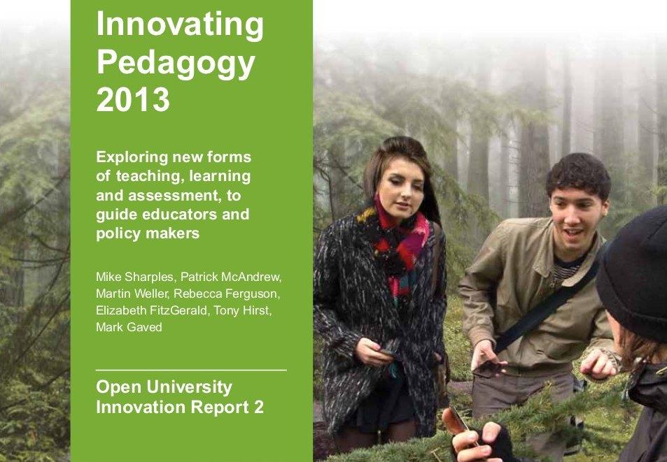 Publicación del informe Innovating Pedagogy 2013 de la Open University UK