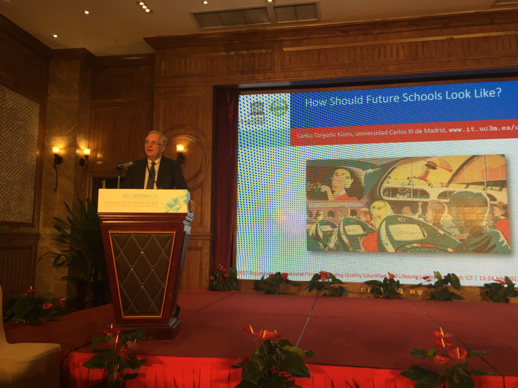 "Carlos Delgado Kloos, director de la Cátedra UNESCO, participa en el evento ""2017 Dujiangyan International Forum: Ensuring Quality Education and Lifelong Learning through ICT"""