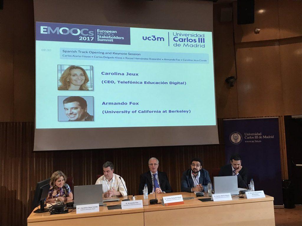 La Cátedra UNESCO patrocina la Jornada de MOOCs en Español en EMOOCs 2017