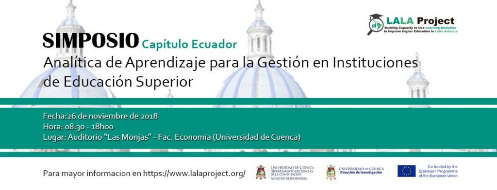 """La Cátedra UNESCO, participa en el simposio """"Analítica de aprendizaje para la gestión en Instituciones de Educación Superior"""""""