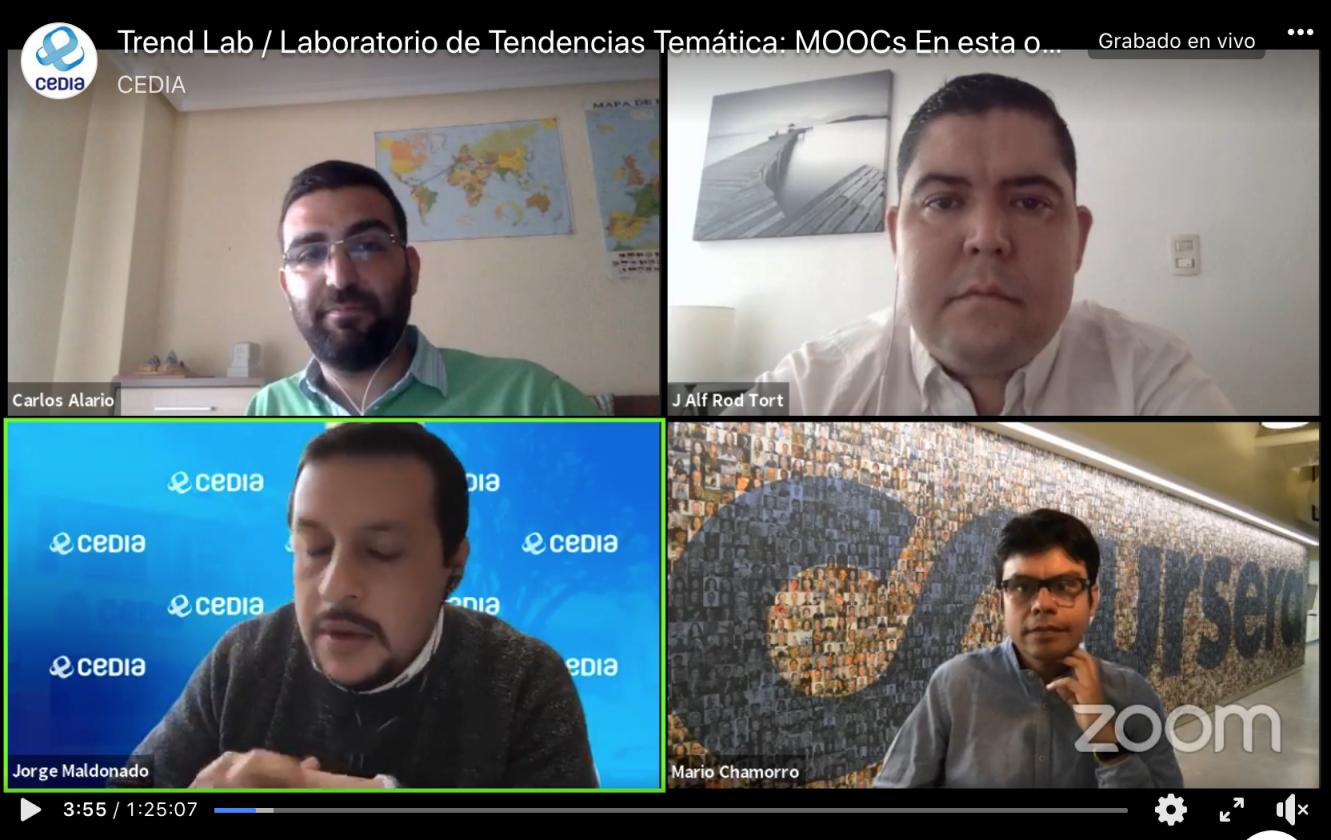 """Carlos Alario ha participado en el webinar """"Trend Lab / Laboratorio de Tendencias"""", organizado por Red CEDIA (Ecuador)"""
